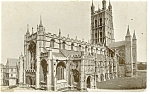 Click here to enlarge image and see more about item p13199: Gloucester Cathedral From SW  Postcard 1908