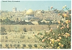 General View of Jerusalem Postcard