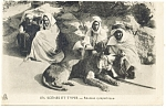 Click here to enlarge image and see more about item p13217: Lion with Desert Dwellers Postcard p13217