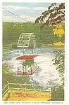 Click here to enlarge image and see more about item p13238: The Aero Car Niagara Falls Ontario Postcard p13238