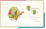 Click here to enlarge image and see more about item p13261: Thanksgiving Postcard  Turkeys 1915