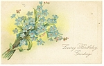Birthday Vintage Postcard p13281 Flower Bouquet 1911