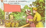 Military Postcard Marching Soldiers