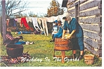 Click here to enlarge image and see more about item p13308: Washday in the Ozarks Postcard