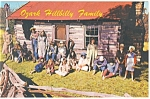 Ozark Hillbilly Family Postcard