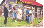 Click here to enlarge image and see more about item p13310: Ozark Hillbilly Weddin Postcard