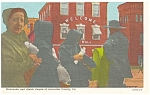 Lancaster County PA Amish Mennonite People Postcard p13317