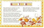 Click here to enlarge image and see more about item p13325: Bless This House Postcard p13325