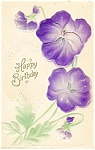 Click here to enlarge image and see more about item p13358: Birthday Postcard Flowers ca 1907