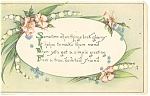 Greetings Postcard Flowers ca 1919
