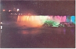 Niagara Falls, NY, American Falls at Night Postcard