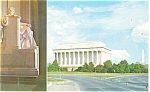 Washington DC Lincoln Memorial Postcard p13401