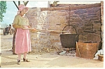 Pennsylvania Dutch Making Apple Butter Postcard p13418