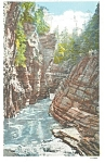 Ausable Chasm,NY, Mystic Gorge Postcard