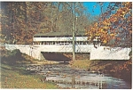 Valley Forge PA Covered Bridge Postcard p13516a