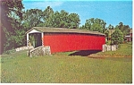 Click here to enlarge image and see more about item p13531: Covered Bridge PA Amish Country Postcard p13531