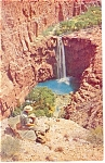 Click here to enlarge image and see more about item p13537: Mooney Falls Havasu Canyon Arizona Postcard p13537