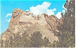 Mt Rushmore South Dakota Postcard p13541 1966
