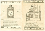 Solarine White Metal Polish Advertising Pamphlet 1903