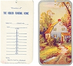 Click here to enlarge image and see more about item p13554: Houcks'  Funeral Home Bookmark Ad Item (2)