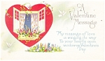 A Valentine Message Postcard