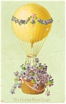 Click here to enlarge image and see more about item p13568: Birthday Greetings Balloon Postcard