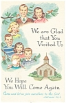 Click here to enlarge image and see more about item p13587: Church Visit  Postcard