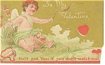 Click here to enlarge image and see more about item p13589: To My Valentine  Postcard p13589