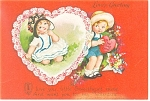 Click here to enlarge image and see more about item p13591: Love s Greeting Valentine  Postcard p13591
