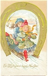 Click here to enlarge image and see more about item p13601: To Wish you a happy New Years Postcard 1910
