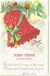 Click here to enlarge image and see more about item p13602: New Year Greetings Postcard