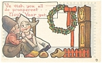 Click here to enlarge image and see more about item p13608: Dutch New Years Postcard