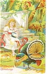 Click here to enlarge image and see more about item p13609:  Thanksgiving Greetings Postcard