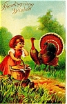 Thanksgiving Wishes Postcard 1910