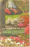 Click here to enlarge image and see more about item p13616: We Prayed for you today Postcard