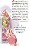 Join us in Sunday School Postcard