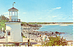 Click here to enlarge image and see more about item p13629: Ogunquit, Maine, Lobster Point Light Postcard