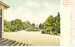 Grounds of Hotel at Redondo, CA Postcard p13681