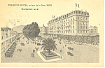 Click here to enlarge image and see more about item p13685: Terminus Hotel, Nice, France Postcard 1922