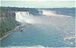 Niagara Falls NY Rainbow Bridge Postcard p1370