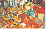 Florida Fruit Display Postcard 1966