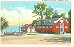 Click here to enlarge image and see more about item p13805: State Fish Hatchery, Clear Lake, IA Postcard 1935