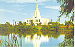 Later Day Saints Temple  Idaho Falls ID Postcard p13808