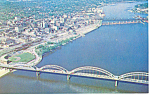 Rock Island Centennial Bridge, IL Postcard