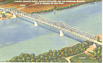 Click here to enlarge image and see more about item p13815: Audubon Bridge Evansville IN Postcard p13815