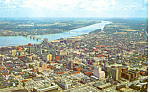 Ohio River at Louisville, KY Postcard 1960
