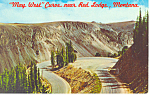 Click here to enlarge image and see more about item p13821: May West Curve, Red Lodge, MT Postcard