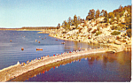 Click here to enlarge image and see more about item p13838: Big Bear Lake Dam, California Postcard
