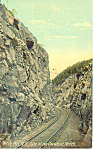 Gate of the Crawford Notch Track Scene Postcard p13912