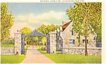 Click here to enlarge image and see more about item p1394: Fort Ticonderoga NY Lodge Postcard